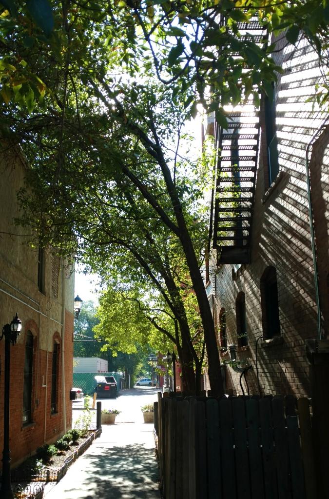 light, shadows, Old Colorado City, Colorado Springs, alleyway, alley, Henry Van Dyke, originality, Anselm Society