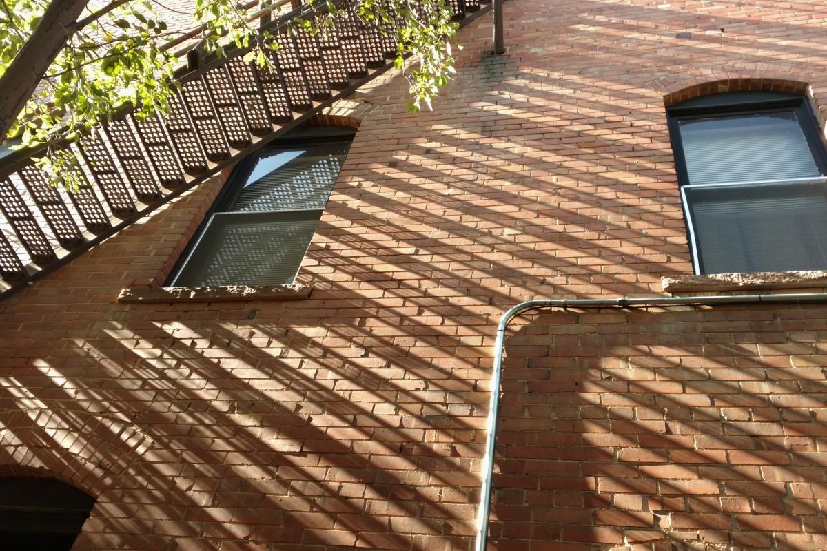 light, shadows, fire escape, Colorado Springs, Old Colorado City, originality, Henry Van Dyke,